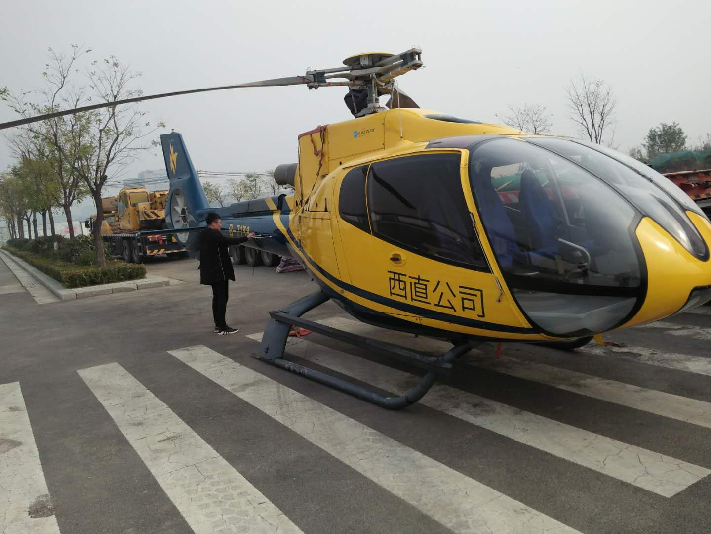直升机吊装现场
